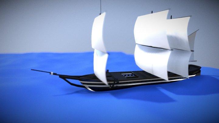 Advanced Ship 3D Model