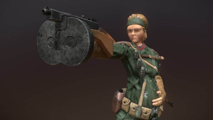The Boss WWII 3D Model
