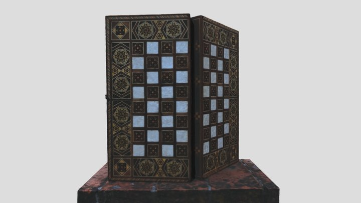 Boarding game box 3D Model