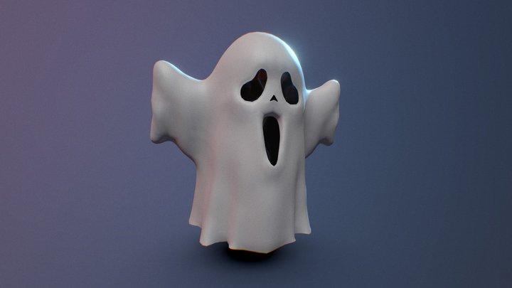 Cartoon Ghost Cloth 3D Model