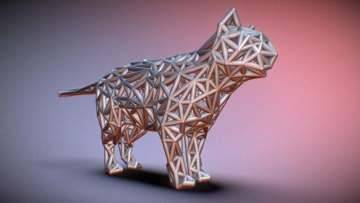 Standing Cat 3D Model