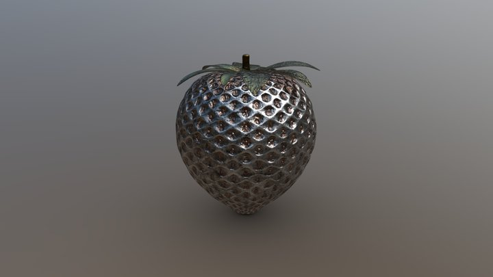 Metal Strawberry 3D Model