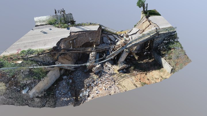 Collapsed Bridge - Megara - 3D Pcloud 3D Model