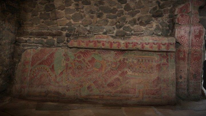 Tetitla, Teotihuacan, Hombre Jaguar 3D Model