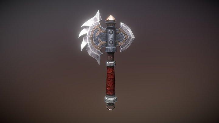 Fantasy Armory - Savage Axe 01 3D Model