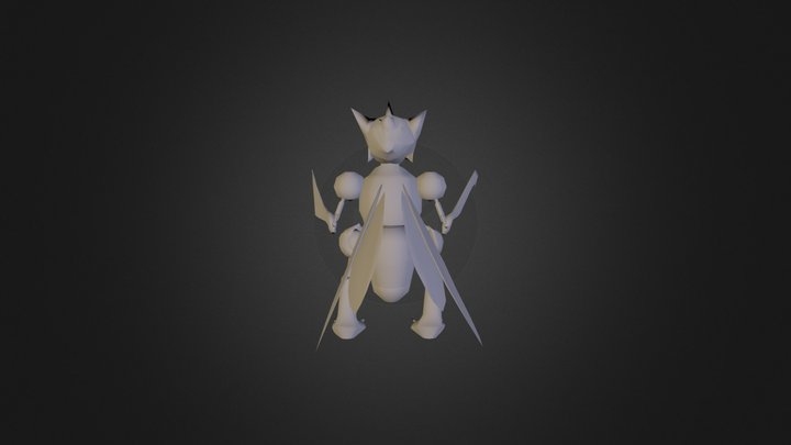 Scyther *UNTEXTURED* 3D Model