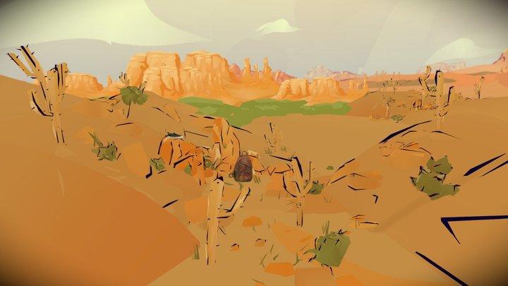 Crossing the desert 3D Model