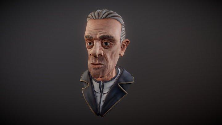 Stylized Sculpt Face 3D Model
