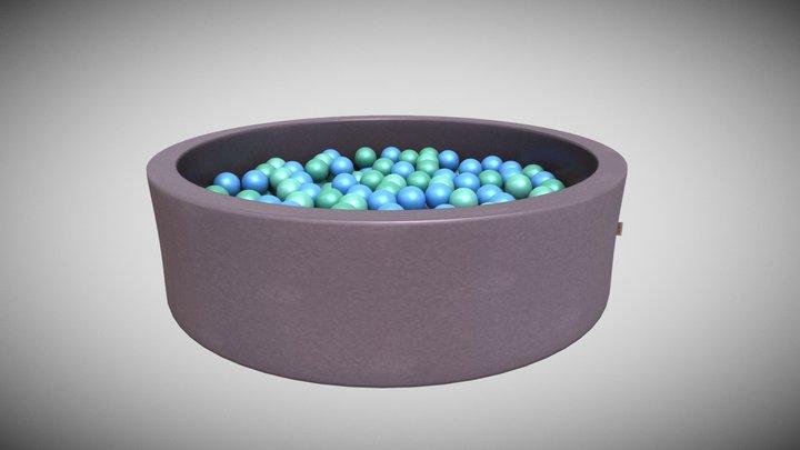 Snugo Motiv Bällebad - Seepferdchen 3D Model
