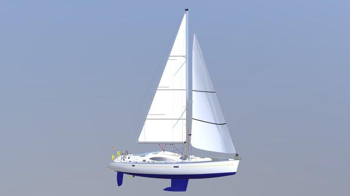 Parts of the Main sail 3D Model