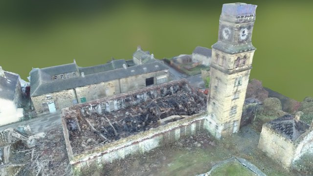Newsome Mill - after the fire 3D Model