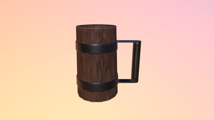 PBR Beer Flagon 3D Model