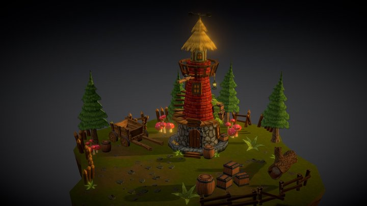 Watch Tower - WIP 3D Model