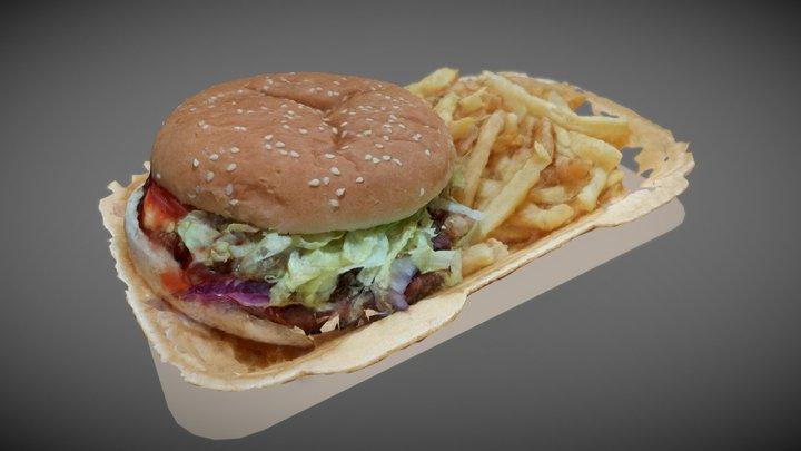 Scanned Burger 3D Model