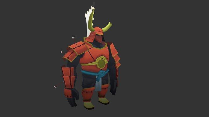 Samurai Character 3D Model