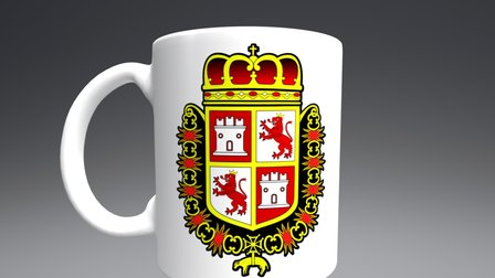 Spanish Coat of Arms, Castillo de San Marcos 3D Model