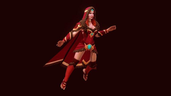 Flame Maiden - Dota 2 Workshop item set 3D Model