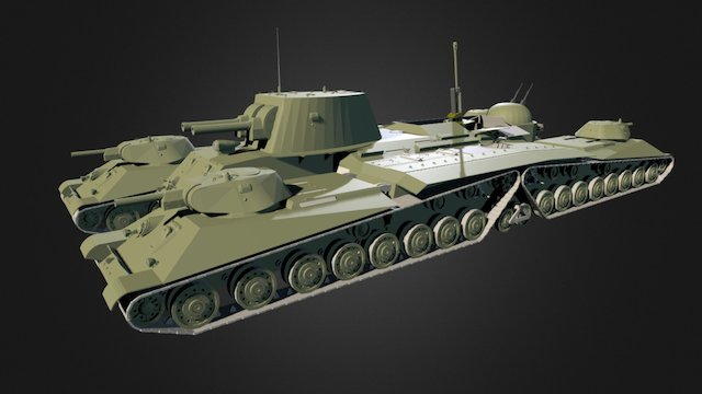 Osokin Tank Cruiser 3D Model