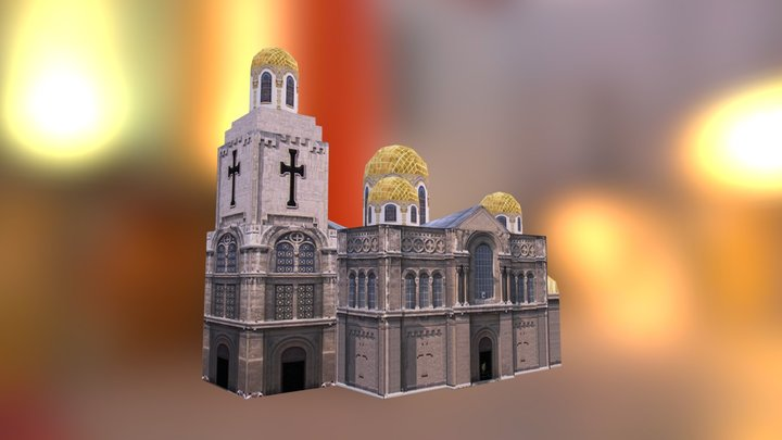 Varna Cathedral (Low Poly) 3D Model