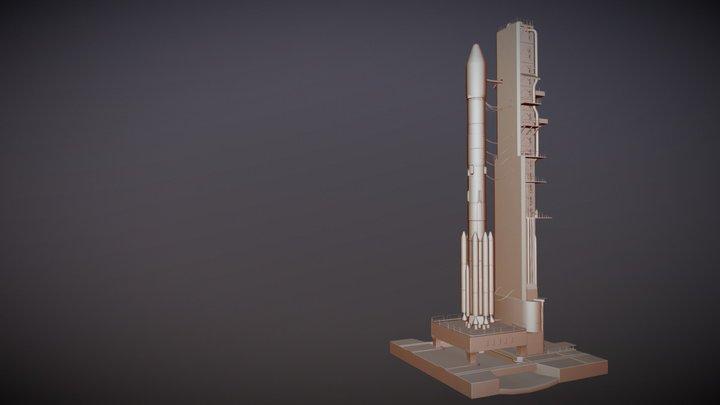 PSLV- Rocket Launchar WIP... 3D Model