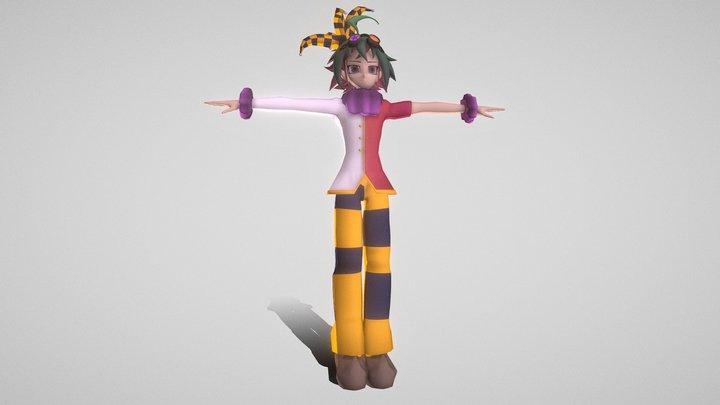 Yuya Sakaki (Clown Outfit) 3D Model