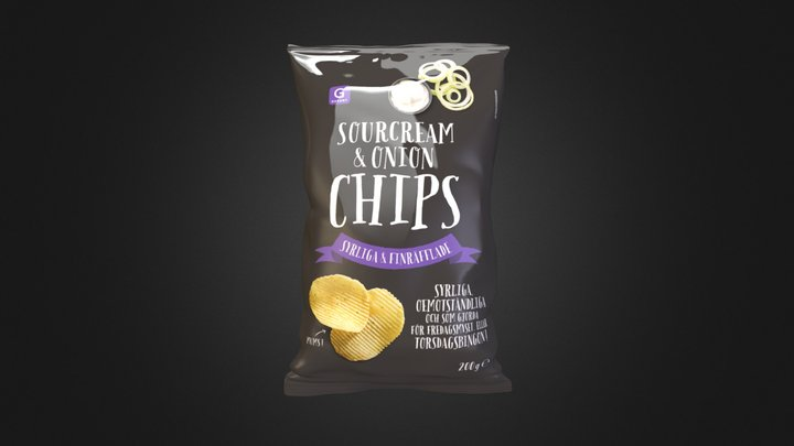 Packshot Chips 3D Model