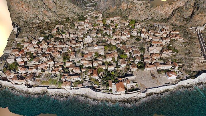 Medieval Castle Town of Monemvasia 3D Model