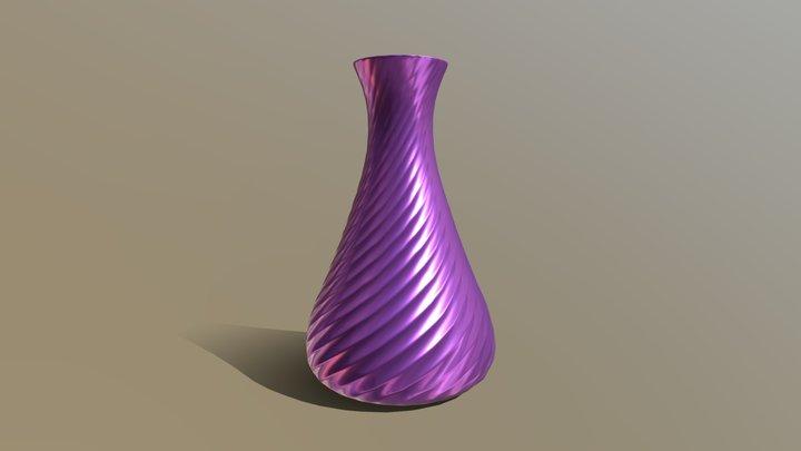Vase Ribbed LP V2 3D Model