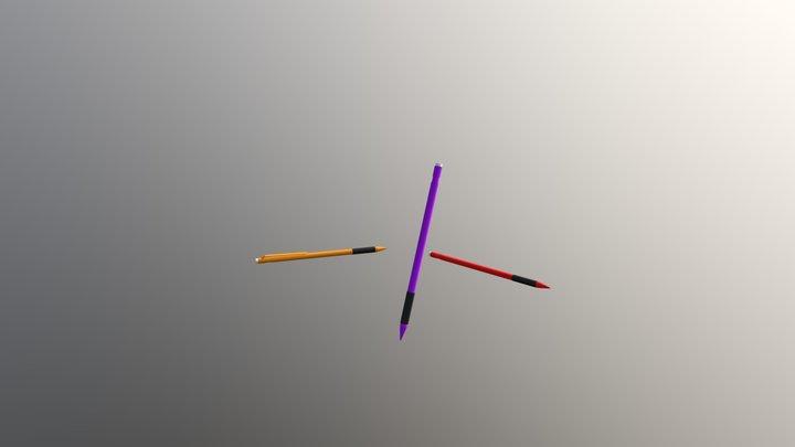 Mechanical Pencils 3D Model