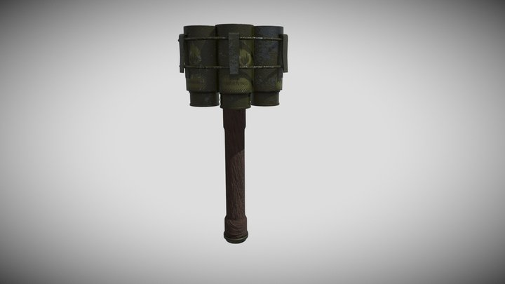 Stick Grenade 3D Model