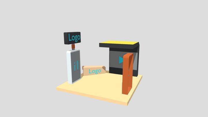 Modelo Stand Pyme (1) Expo Virtual CDI 3D Model