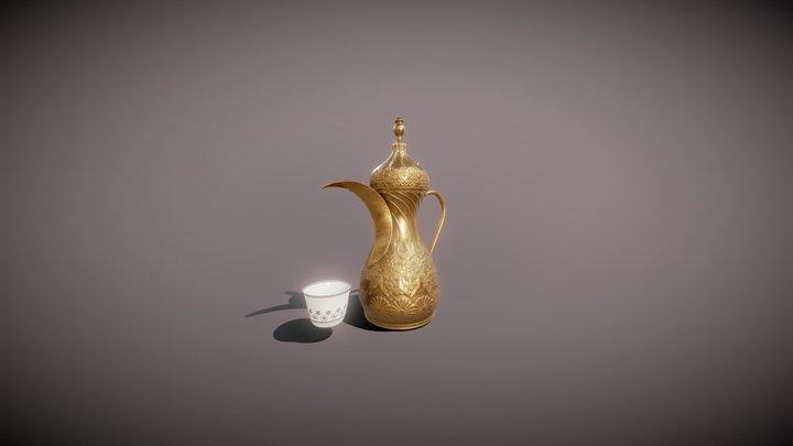 Arabian Coffee Pot 3D Model