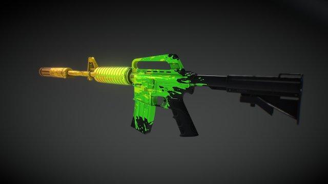 M4A1s - FATCAP 3D Model
