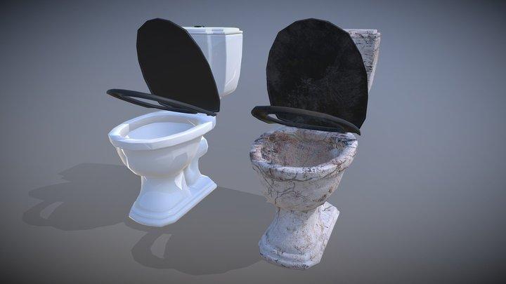Dirty vs clean toilet 3D Model