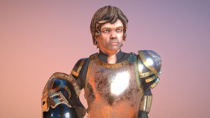 Armor Tyrion Lannister Game of Thrones 3D Model