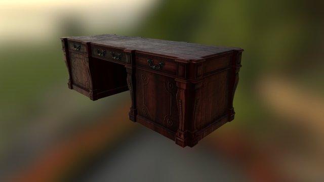 Gothic Desk 3D Model