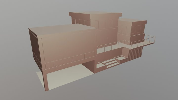 CG Cookie House Exercise 3D Model