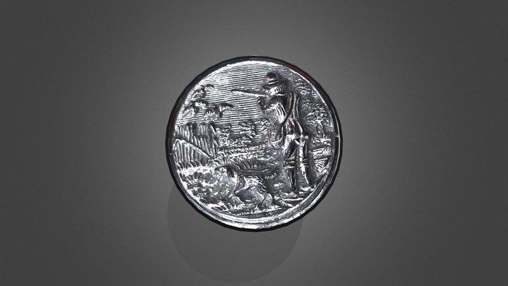 Italian Glass Button 1880's 3D Model