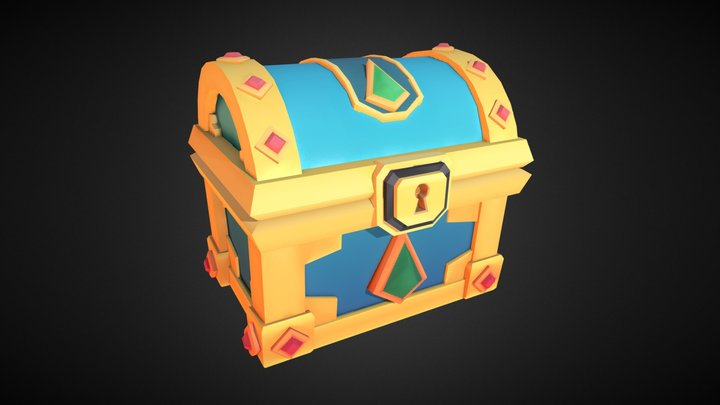 Closed Chest 3D Model