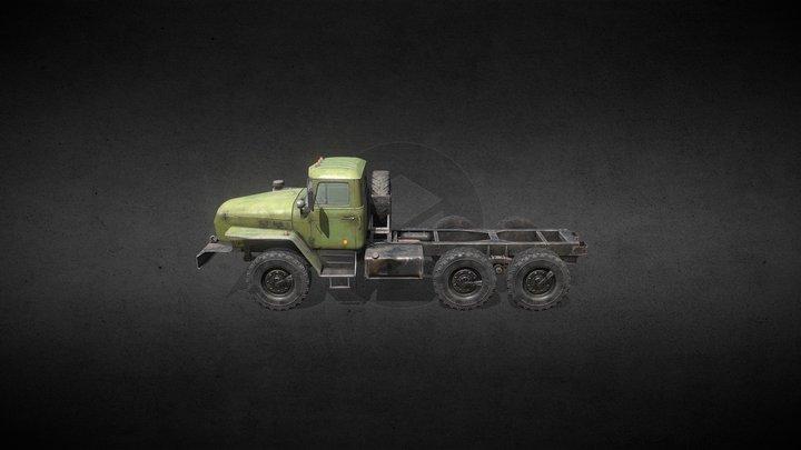Russian heavy truck 3D Model