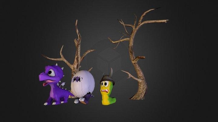 Maya Game Characters 3D Model
