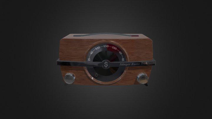 Vintage Modern Radio 3D Model