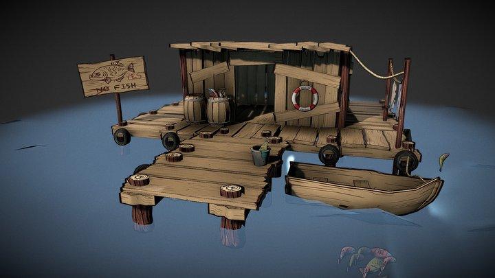 Muelle de pesca fishing pier 3D Model