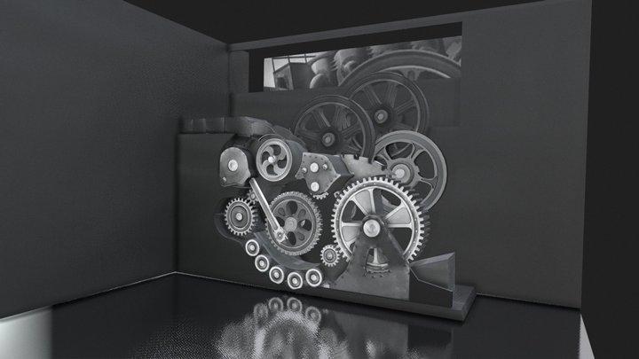 MODERN TIMES - CHAPLIN'S  MACHINE 3D Model