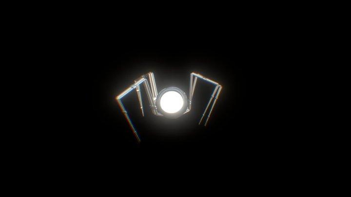 Spiderbot Anim Walk 3D Model