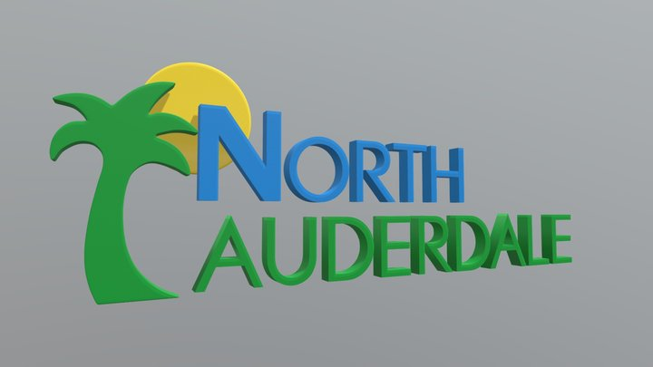 3D Logo For North Lauderdale's PEG Channel, V2 3D Model