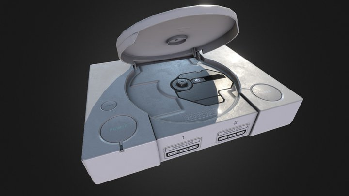 PlayStation (open tray) 3D Model