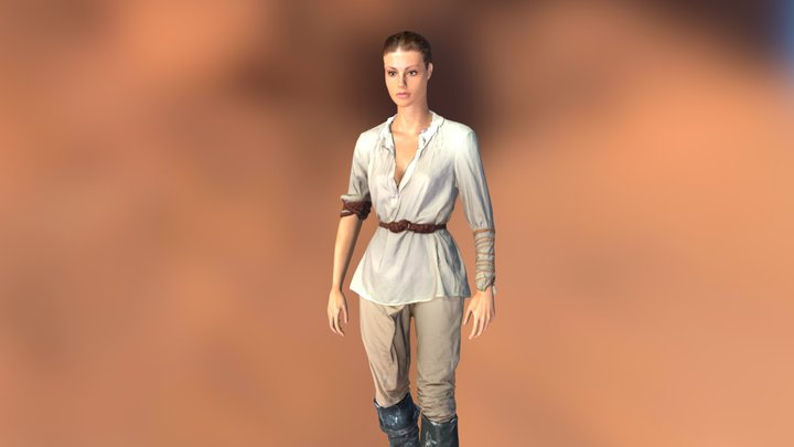 Woman with some animations 3D Model