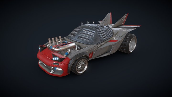 Stylized battle car 3D Model
