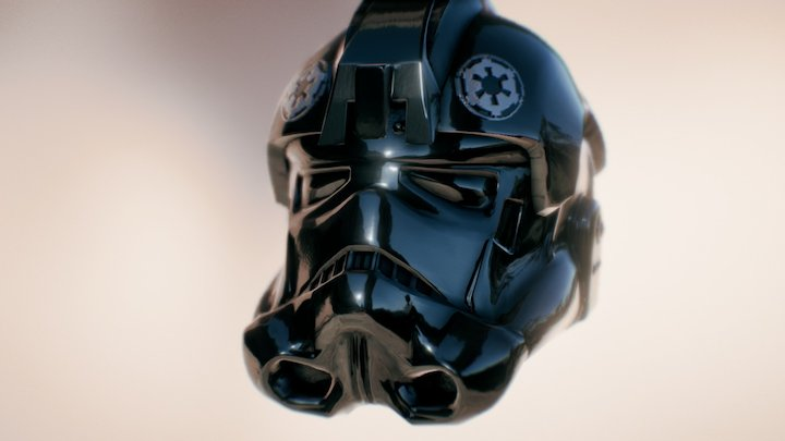 3D TIE PILOT HELMET - Star Wars model 3D Model